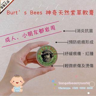 *居家旅行必備* Burt's Bees 神奇天然紫草軟膏 15g「消炎抗菌、紓緩痕癢、預防疤痕形成」