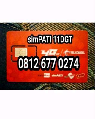 Nomor cantik Telkomsel simpati 11digit special edition.