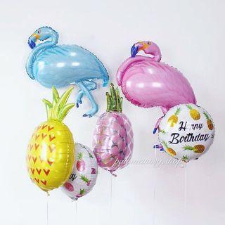 Summer birthday party foil balloon