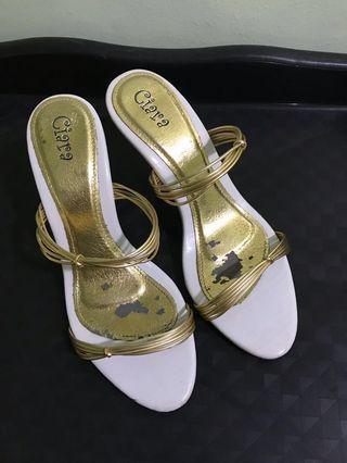 Two Strips High Heels Sandals - Ciara