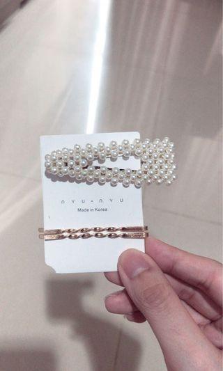 korean pearl hair pin