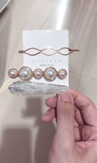 Korea pearl hair pin