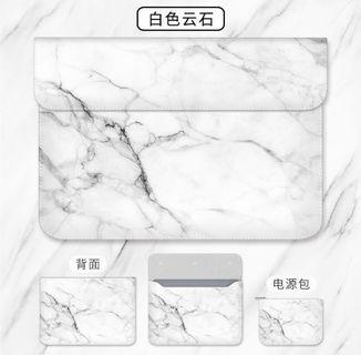 "13"" Macbook Laptop Sleeve white marble"