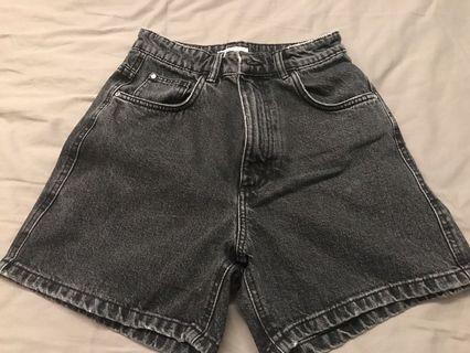 vintage denim mom shorts