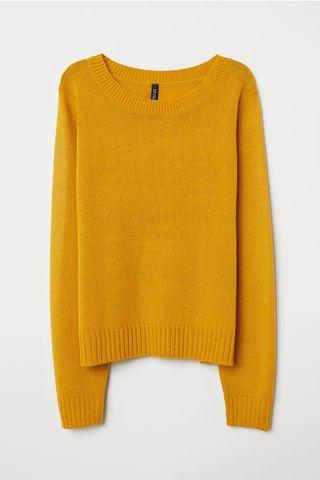 🚚 Mustard Knitted Top (H&M inspired)