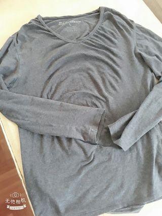 4/24免運L超彈性舒服100%棉質寬鬆圓領打底上衣不起毛球