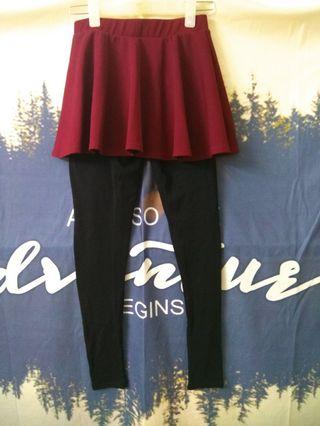 Fake Two Pieces Skirt and Trouse