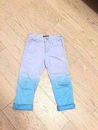 🚚 Little moni藍灰色漸層長褲(100cm)二手