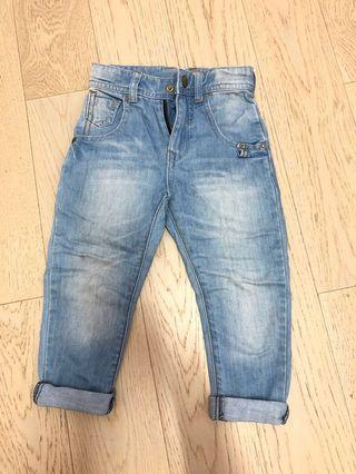 🚚 Little moni牛仔長褲(90cm)二手(麗嬰房網路品牌)
