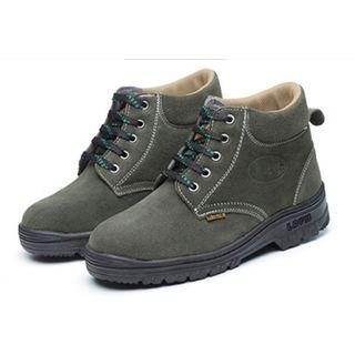 BN Grey Green Steel Toe Safety Boots