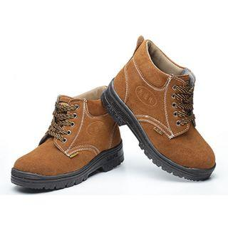 BN Light Brown Steel Toe Safety Boots