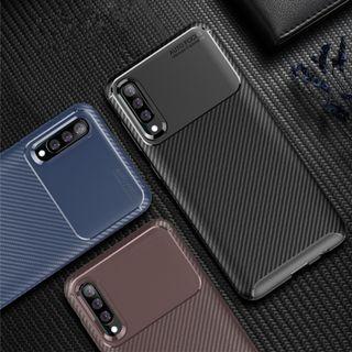Case Samsung A70 Softcase Samsung A70 2019 Shockproof Carbon