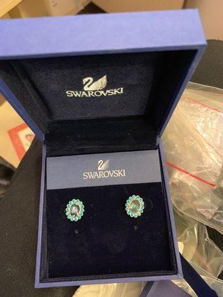 正品施華洛世奇水晶耳環