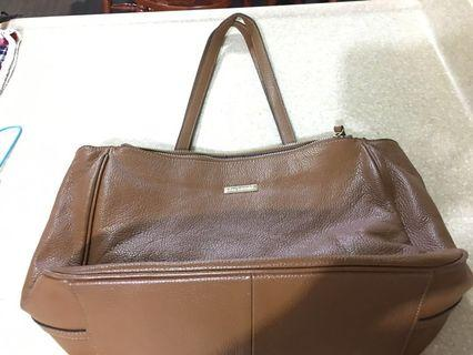 Large pure leather bag