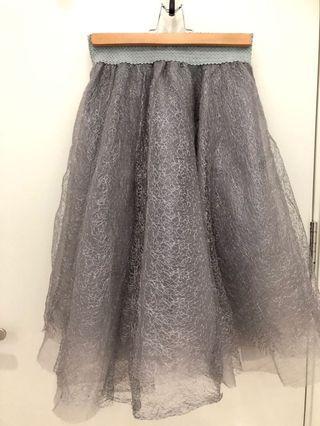 Silver party/tutu flair skirt