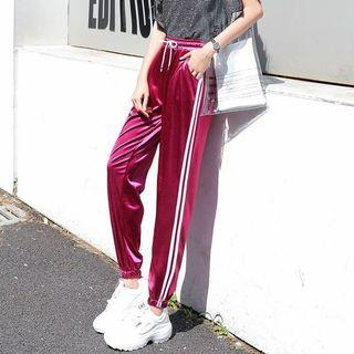 Red/Pink Striped Sweatpants