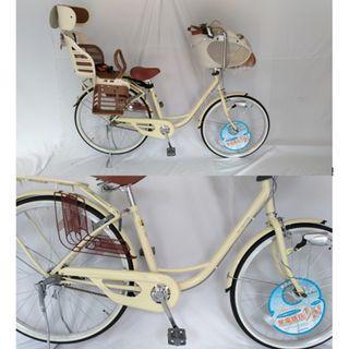 進口日本品牌 內變速 26吋親子腳踏自行單車 含OGK兒童前後座椅  日本親子車