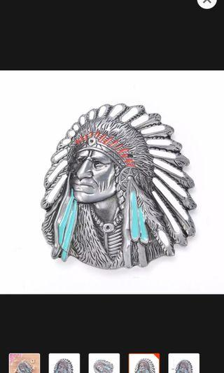 Apache belt buckle