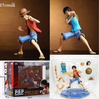 Anime One Piece POP Monkey D Luffy JF Special Action Figure 17cm