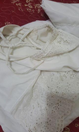 Telekung premium cotton sulam