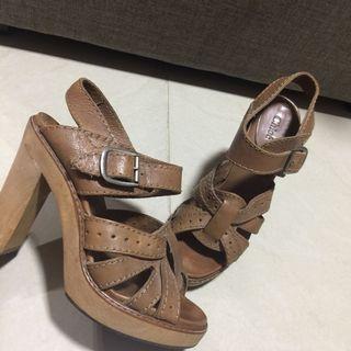 Authentic Chloe wooden heels