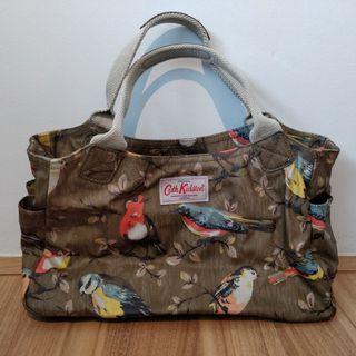 Cath Kidston Matt Oilcloth Garden Birds Olive Day Hand Bag