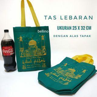 Goodie bag Tas Lebaran Spond Bon Idul Fitri Ukuran 25x32cm dengan Alas Tapak Bawah  Tas Selamatan THR Hari Raya