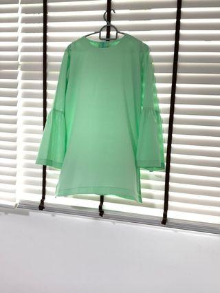 🚚 Green Top & Pants Set