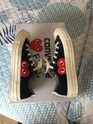 COMME DES GARCONS PLAY CDG PLAY BLACK UNISEX LOW TOP CONVERSE SNEAKERS