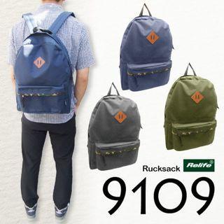 ((特價$98包順豐自取)) 2色 全新日本直送 Relife 9109 簡約輕便旅行背囊 書包