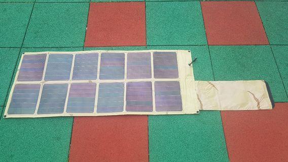 美軍專用太陽能义電版 12V to 24V US army solar panel foldable 行山旅遊必備