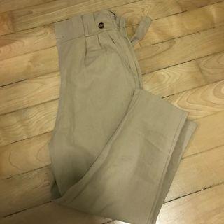 BNWT Khaki paper bag Pants