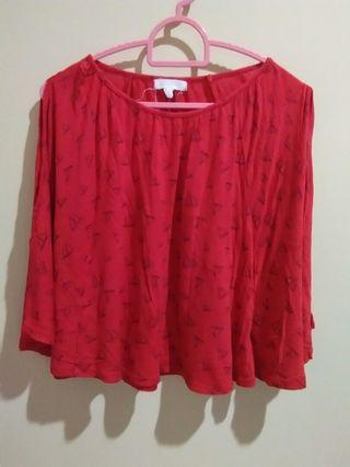 [PUMPKIN PATCH] Red Flowy Top