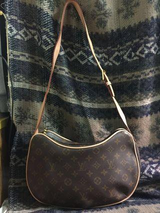 Authentic Louis Vuitton Monogram Canvas Croissant Pochette Bag