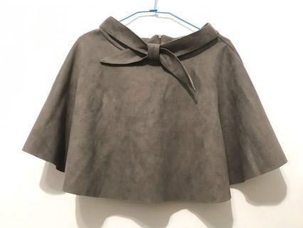 🚚 麂皮絨感灰色短裙