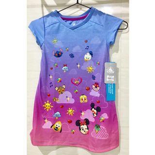 New Disney Store Disney Emoji Sleep Dress Baju Tidur Size 4