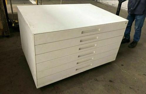 6 Drawer Metal Plan Chest $80 each