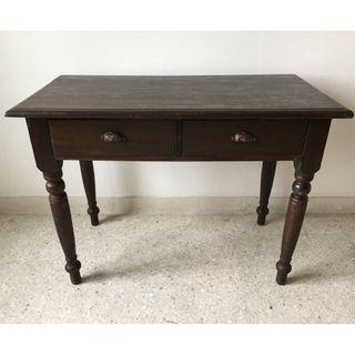 Vintage Old Malaya Solid Wood Writing Desk