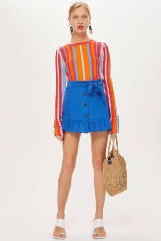 Topshop petite flippy skirt