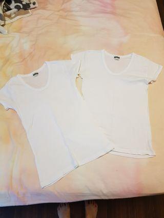 100% Cotton plain basic white shirts