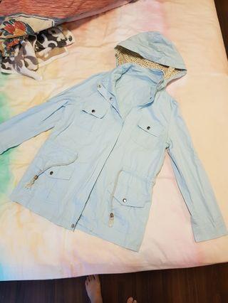 Baby blue parka hoodie jacket