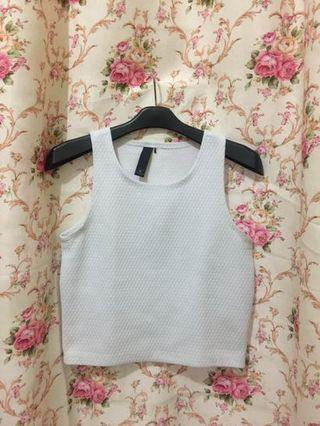 White Crop Top / crop tee