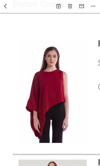 Lovo red top asymmetrical