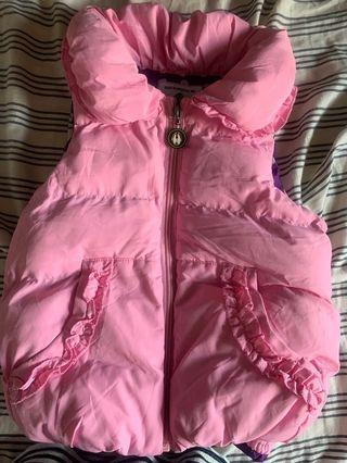 粉紅色夾綿外套仔 👧🏻size110