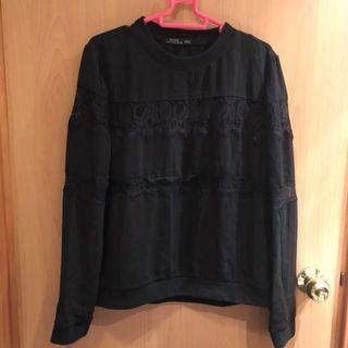 (New) Bershka black lacy top / sweater