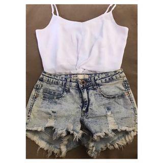Cotton On Denim Ripped Shorts