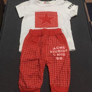 Red Tshirt And Pants Terno for 1-2 years old