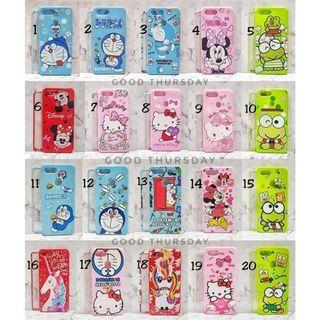 Case oppo A7 F5 serial F7youth A83 F1s jelli charakter+tempe