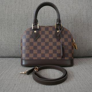 c71a41925a08 Authentic 2019 Louis Vuitton LV Bag Damier Alma BB Ebene