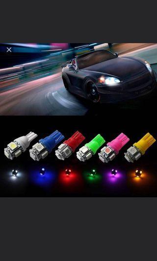 T10 led bulbs. Many colours